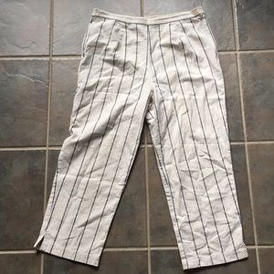 Vintage Striped Cropped Pants, Light and Flowy